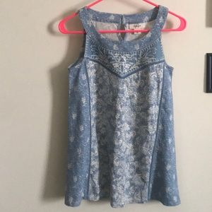 NWT Blue Tank. FITS LIKE SMALL